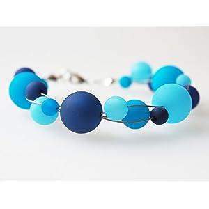 Polarisarmband türkis blau dunkelblau Armband