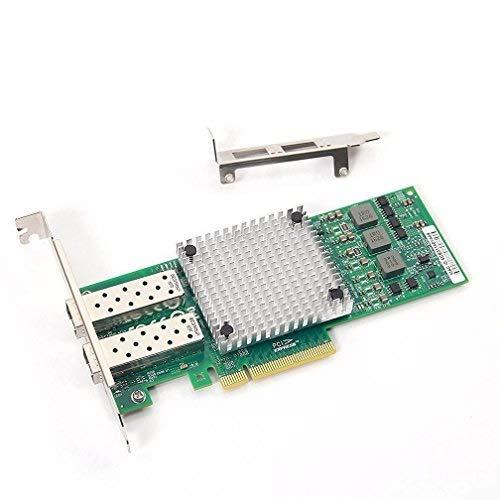 10Gtek® 10GbE PCIE Netzwerkkarte Broadcom 57810S Chip, Dual SFP+ Ports, 10Gbit PCI Express x8 LAN Adapter, 3-Year Warranty, MEHRWEG -
