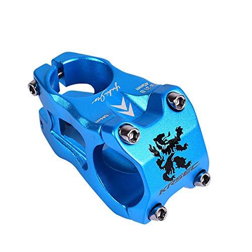 LIDAUTO Fahrrad Straßen Mountainbike Aluminiumfahrrad Riser Aluminiumlegierung 0 Grad 31,8mm Lenkererhöhung,Blue -