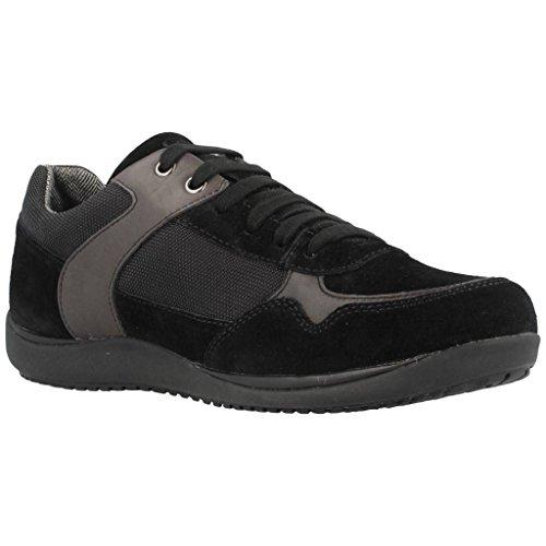 Geox U44y2b Sneakers Herren Spaltleder Nero