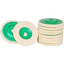 10pcs lana Disco de pulido, 100 mm Rectification de ruedas con 5/8