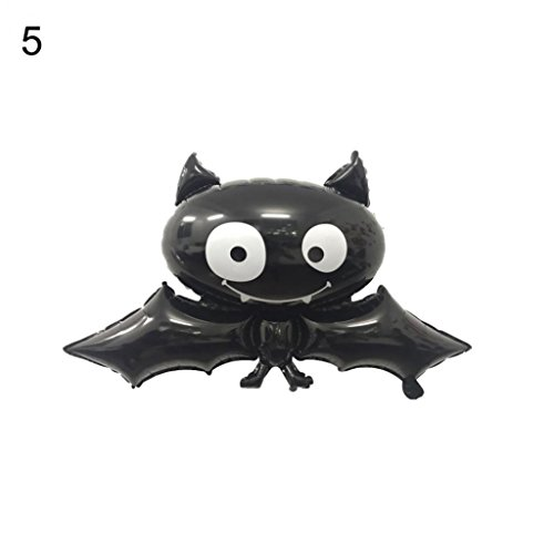 Hearsbeauty Halloween Folienballon Fledermaus Totenkopf Kürbis Spider Festival Bar Home Party Decor 5#