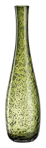 Leonardo Vase Giardino, handgefertigte Deko-Vase passend zum Landhausstil, Blumen-Vase in grünem Farbton, 40-cm, 034907