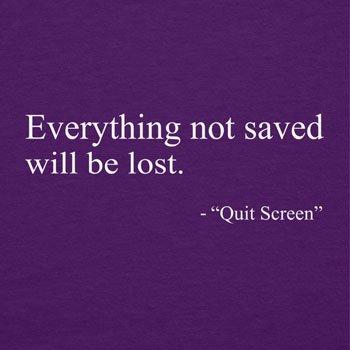 TEXLAB - Everything not saved will be lost - Herren T-Shirt Violett