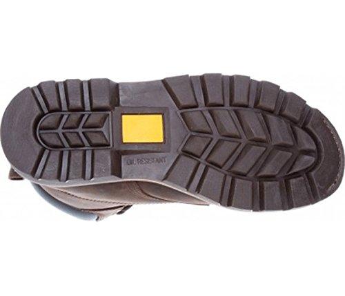 Dickies Crawford Bottes de sécurité en cuir avec coque en acier pour FD9210 Vêtements de travail Marron - marron