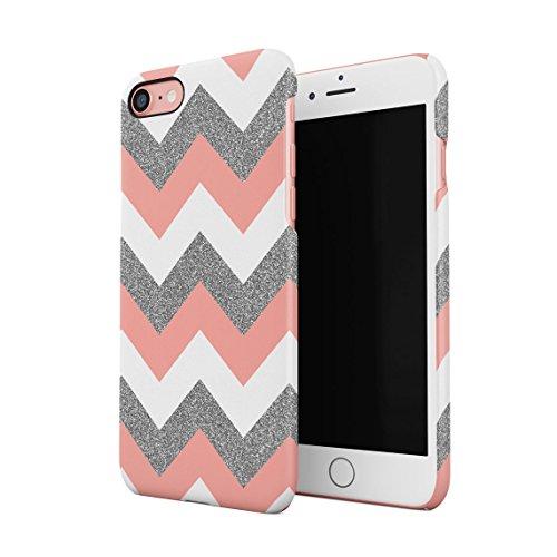 Baby Blue Polka Dots Pattern Dünne Rückschale aus Hartplastik für iPhone 7 & iPhone 8 Handy Hülle Schutzhülle Slim Fit Case cover Coral Pink Chevron