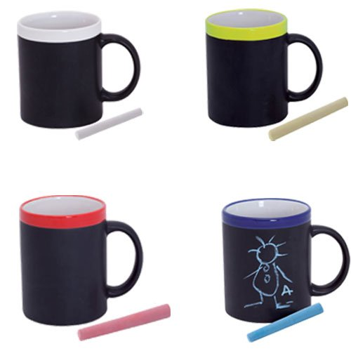 Lote de 20 Tazas Pizarra de Cerámica ideales para Desayuno, en caja d