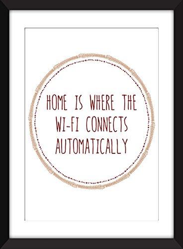 Zuhause, wo die Wi-Fi-Anschlüsse automatisch Typografische Drucke 11 x 14 / 8 x 10 / 5 x 7 A3 / A4 / A5 Snarky Print