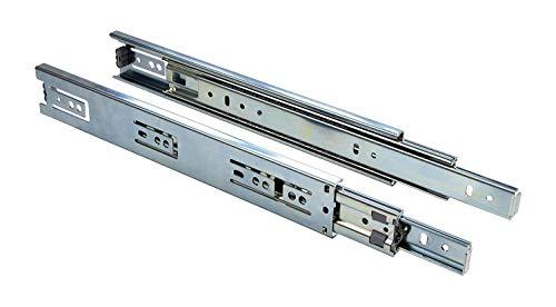 Schubladenschiene Schrank-Kugelauszug Teleskop-Schiene Schubladen Vollauszug 700 mm - KTS | Stahl verzinkt | Tragkraft 30 kg | Teleskopauszug kugelgelagert | 1 Paar - Auszüge für Küchenschränke