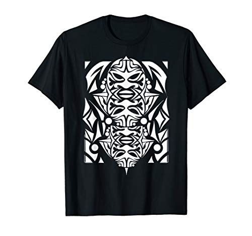 MAORI TRIBAL, MAORI SYMBOL, POLYNESISCHE MASKE T-Shirt