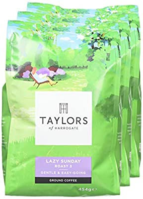 Taylors of Harrogate Lazy Sunday Ground Coffee, 454 g, Pack of 3 from Taylors of Harrogate