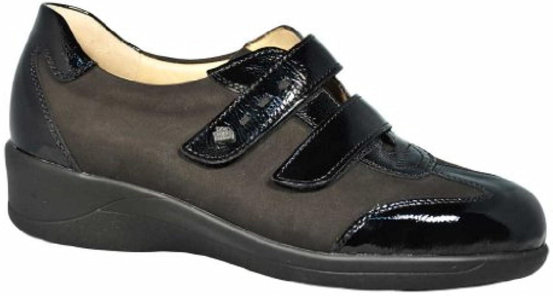 Finn Comfort Zapatilla de Messina Negro, negro, 5,5