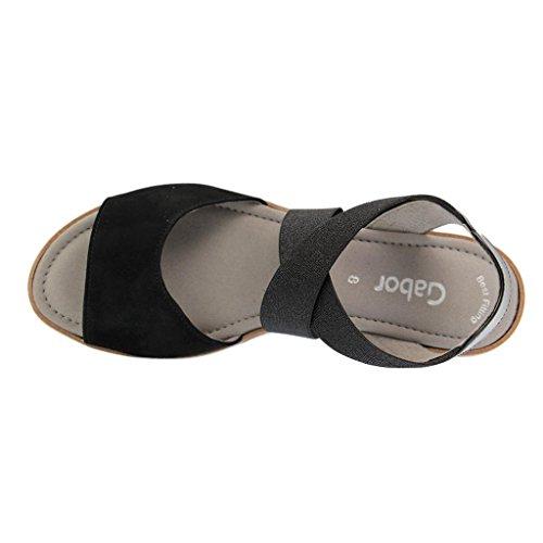 Gabor 65.572 femmes Sandale Noir