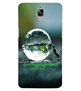 ColourCraft Inspirational Quote Design Back Case Cover for OnePlus Three