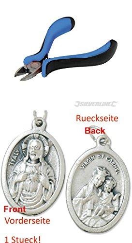 Preisvergleich Produktbild Mini-Seitenschneider, 115 mm, Präzisionsschneider, Kneifzange, Kombizange mit einem Anhänger Herz Jesu 2,5cm