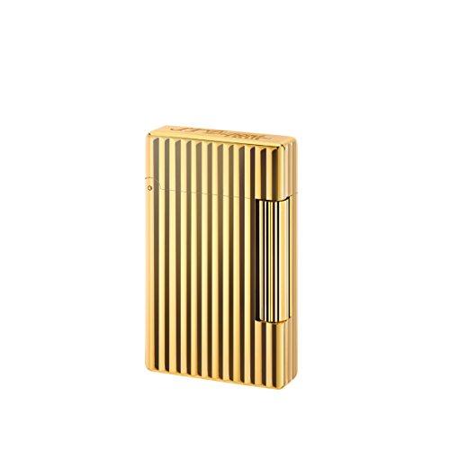 feuerzeug gold S.T. Dupont D-020803 Feuerzeug mit Initialen, Linien Golden Bronze