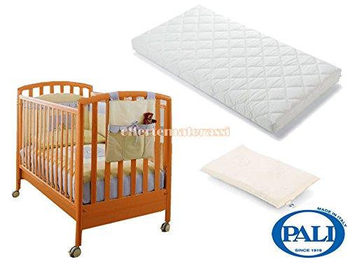Lettino Pali Ciak ciliegio + materassino Pali Evo + cuscino baby antisoffoco