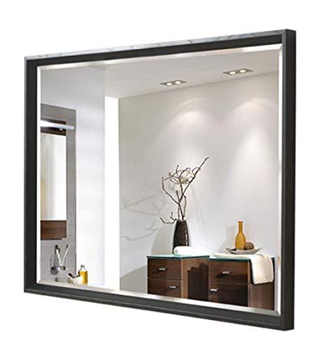 Wand Hängenden Spiegel Traditionellen Rechteck Bad Spiegel Weißen Schwarzen Badezimmer Möbel Make-Up Tischspiegel Für Rasieren,Verkleiden 50 * 70cm,Schwarz (Traditionelle Badezimmer-spiegel)