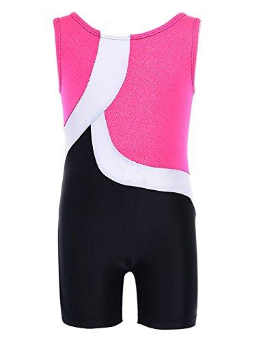 ephex Mädchen Kinderturnen Ärmellos Gymnastik Anzug Turnanzug Wettkampf Anzug für (Bekleidung Anzug)
