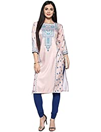 Ziyaa Women's Multi Color Digital Print Straight Kurti