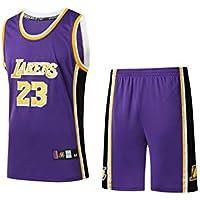GBYN Traje de Jersey Bordado Kobe # 24, Traje de Entrenamiento de Baloncesto # 23 James de Cuello Redondo cómodo y Transpirable-Purple-XXL