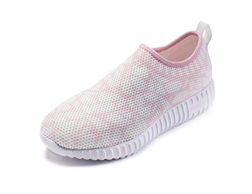 onemix Damen Laufschuhe Light Air Sneaker mit Luftpolster Sportschuhe Roshe Run Laufschuhe Cross Trainer Outdoor Fitnessschuhe Traillaufschuhe -Pink 36