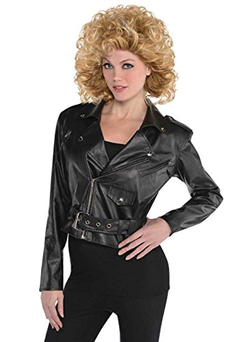 Damen 50er Jahre Bauchfreies Leder Look ()