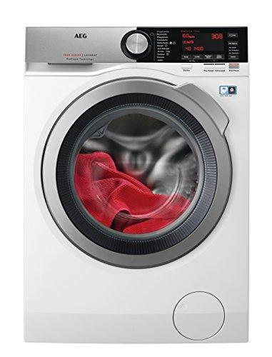 AEG L7FE86604 Waschmaschine Frontlader / 10 kg XXL ProTex Schontrommel / Energieklasse A+++ (167 kWh/Jahr) / Mengenautomatik / Waschautomat mit Dampfprogramm für Hemden und Blusen / weiß und silber