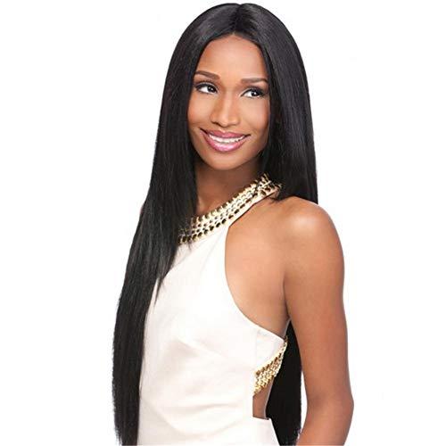 Frauen Schwarze Perücken Langes Haar Hitzebeständige Gerade Cosplay, Kostümparty Oder Täglichen Gebrauch