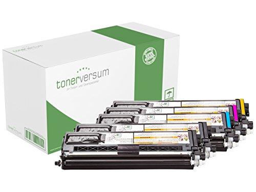 Preisvergleich Produktbild 5x Toner CMYK (alle Farben) Spar-Set ers. Brother TN-910BK (2x black), TN-910C (cyan), TN-910M (magenta), TN-910Y (yellow) für HL-L 9310 CDW / HL-L 9310 CDWT / HL-L 9310 CDWTT / MFC-L 9570 CDW / MFC-L 9570 CDWT | Premium-Toner 5x9000 Seiten | CMYKK