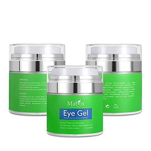 Mabox Ceramide Eye Gel para Hinchazón ojeras arrugas y bolsas (1.7fl oz)