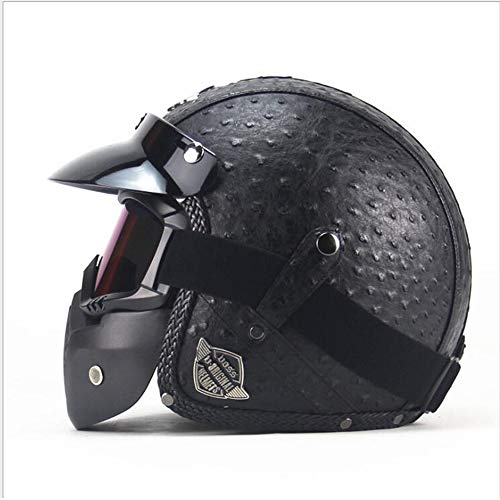 Shfmx motocicletta ciclomotore cruise turismo touring casco aperto faccia jet-con maschera e visiera ece 22.05 omologato casco moto (m, l, xl),m