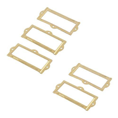 bqlzr Lot de 20/Antique Bronze Fer Cadre Label Support pour /étag/ère /à livres tiroir Cabinet 60/x 17/mm