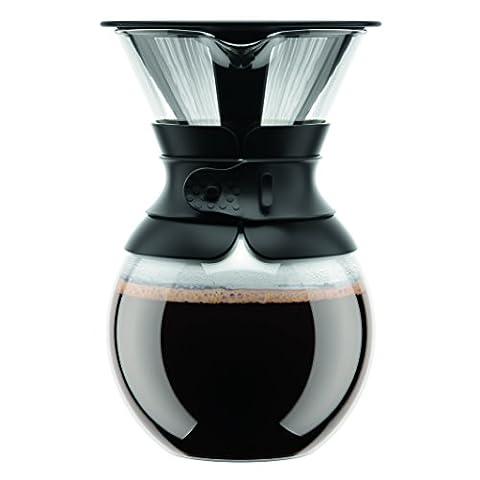 Bodum 11571-01S Cafetière avec Filtre Permanent Maille Inox Noir