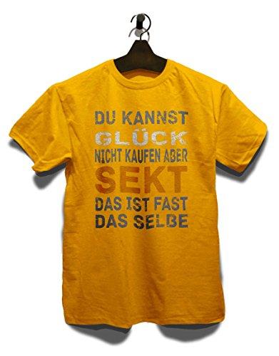 Du Kannst Glueck Nicht Kaufen Aber Sekt T-Shirt Gelb