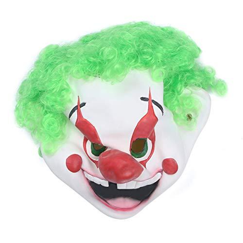 Amosfun Halloween grüne Haarmaske niedliche lustige Party Prop Maskerade Clown Maske für Halloween Tanzshow Maskerade 1pc