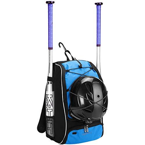 AmazonBasics - Rucksack für Baseball-Ausrüstung für Jugendliche, Marineblau