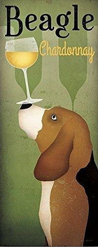 Telaio-foto - Ryan Fowler: Beagle cantina Chardonnay 40 x 100 cm wandbilder