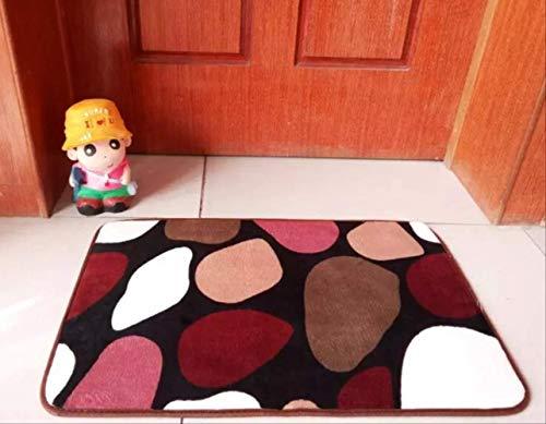 Koralle Samt Teppich, rutschfeste Maschine Waschenküche Bodenmatte, Schlafzimmer Türmatte 200 x 300cm Farbige Steine