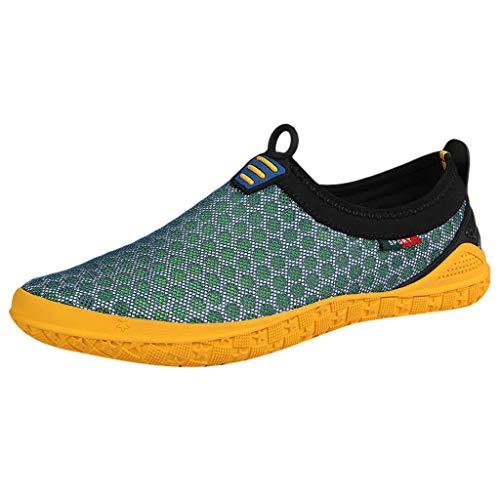AIni Herren Schuhe Sale Mode Beiläufiges 2019 Neuer Heißer Sommer Watschuhe Mesh Atmungsaktive Schuhe Upstream Freizeit Sportschuhe Freizeitschuhe Partyschuhe (39,Grün)