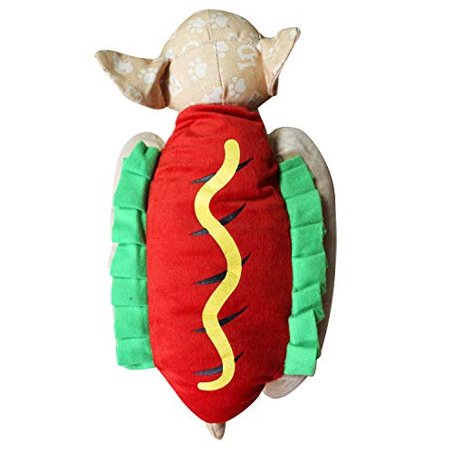 ELLANM Haustier Hund Kleidung Weihnachten Kleidung Kreative Halloween Weihnachten Haustier Kleidung Lustige Hundebekleidung, Hot Dog Brot, L