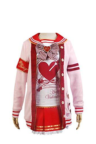LoveLive! Valentinstag Yazawa Nico Uniform Cosplay Kostüm Damen XXXL