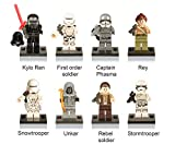STAR WARS 8 Kompatible Figuren Lego - Kylo Ren, Soldat Primo Ordine, Capitan Phasma, Soldato Ribelle, Snowtrooper, Unkar Thug, Rey, Stormtrooper