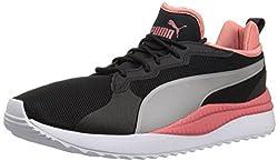 Puma Mens Pacer Next Sneaker, Black-Metallic Beige-Spiced Coral,10 M US