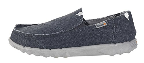 Dude Shoes Mens Soft Padded Casual Comfy Canvas Slip-On Shoes (9 UK, Oceano)