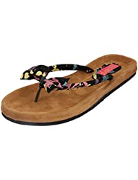 Footrendz Women's Ethnic Bow Touch Printed  Flats