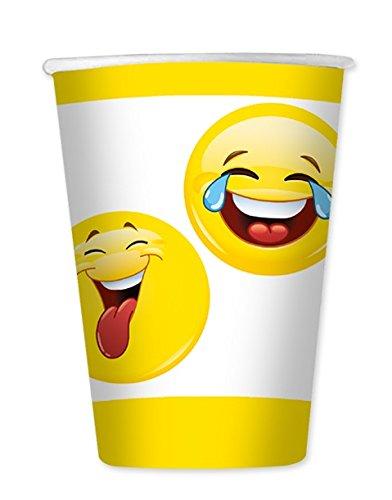 (Big Party Dimav s.r.l. Verpackung von 8 Gläsern(Brille) Fürchtet Emoticon Pro Geburtstage, Parteien zu Thema, Koordiniertem Tisch(Tabelle), Kindern und Erwachsenen)