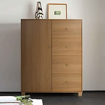 Virginia Walnut sideboard / Tall Boy wardrobe massive versitile storage options, 1 door 4 drawer sideboard produced by Ideal - quick delivery from UK.