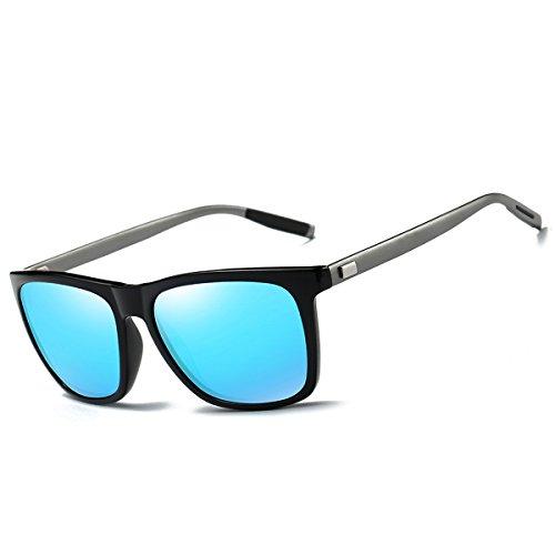 FEIDU Polarized Wayfarer Sonnenbrille für Herren FD9003 (Blau, 2.24)