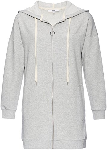 FIND Damen Cardigan mit Kapuze, Grau (Grey Marl), X-Small